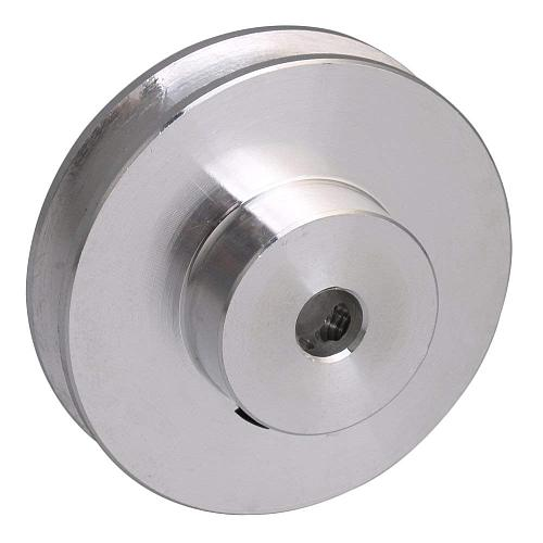 41x16x12MM Silver Alloy Single Groove 12MM Bore Step Pulley for PU Belt