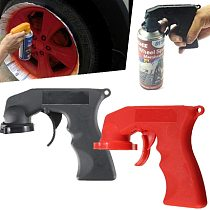 Cool Spray Gun Adaptor Aerosol Spray Gun Handle With Full Grip Trigger Locking Collar Car Paint Tool Derusting Gun Accessories