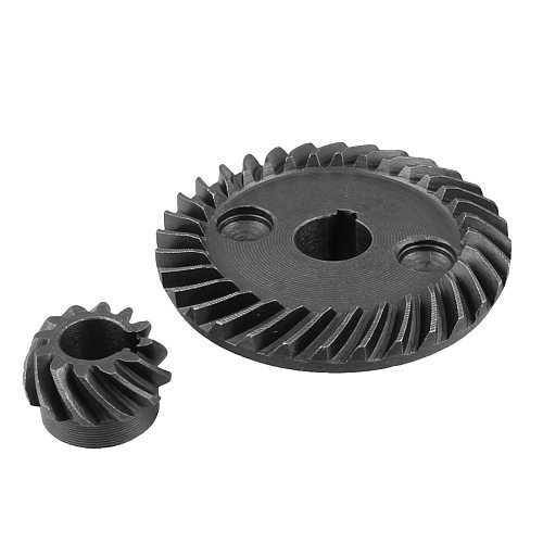 Uxcell 1PCS Metal 8mm Pinion Shaft Dia 10mm Shaft Dia Spiral Bevel Gear Set for Makita 9523 Angle Sander Gear Wheel Replacement