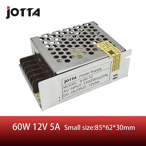 Jomall 60W 12V 5A Single Output 12v DC Switching Power Supply Small Size
