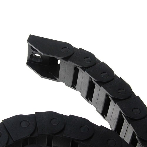 15 x 20mm 15*20mm L1000mm Cable Drag Chain Wire Carrier with End Connectors for CNC Router Machine Tools