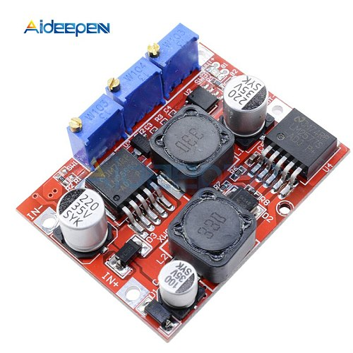 LM6019 LM2596 DC-DC Step Up Down Boost Buck Voltage Power Converter Module Auto Adjustable Constant Current Board 1.25V-26V 3A