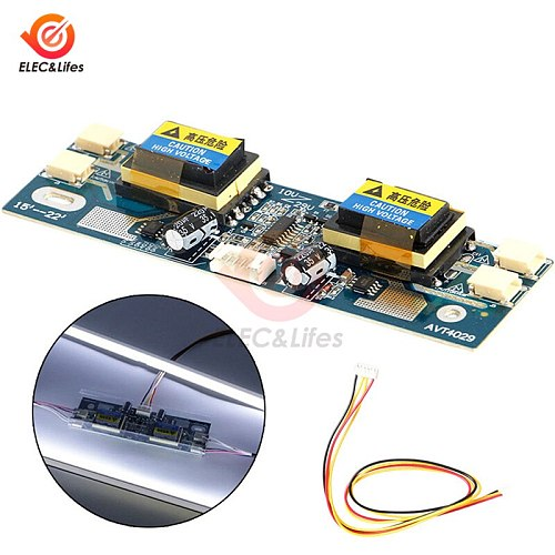 4 Lamp Universal CCFL Inverter LCD laptop Monitor Module 10-30V high-voltage board for Laptop 15-22 Inch LCD Display Widescreen