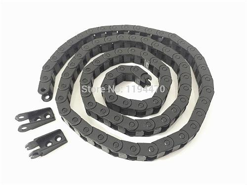 5pcs/Lot 7x7mm R18 Cable Drag Chain Wire Carrier with End Connector 7mm x 7mm L1000mm 40  for 3D CNC Router Machine