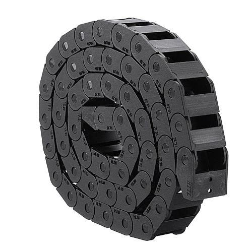 1M Black Nylon Drag Chain Cable Wire Carrier Transmission Chains 10 * 20mm Bridge Shaped Quality Wear Resistance For CNC Machine