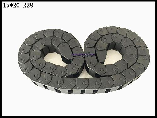 Customized order 4pcs 15x20mm R28 Cable Drag Chain L1000mm with 18 sets End Connectors