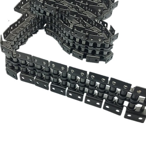 1.5m Length,08B,10A,12A,16A, Double Rows Double Wings Double Hole Transmission Roller Drive Chain With Attachments