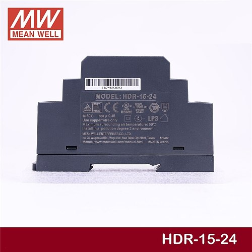 Steady MEAN WELL 15W Industrial DIN Rail Power Supply HDR-15-24 24V 0.63A meanwell HDR-15 Single Output