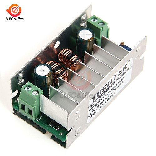 5A DC 6-35V 1-35V adjustable Auto Boost Buck Step Up Down Converter Module  power supply Voltage Regulator With Aluminum Case