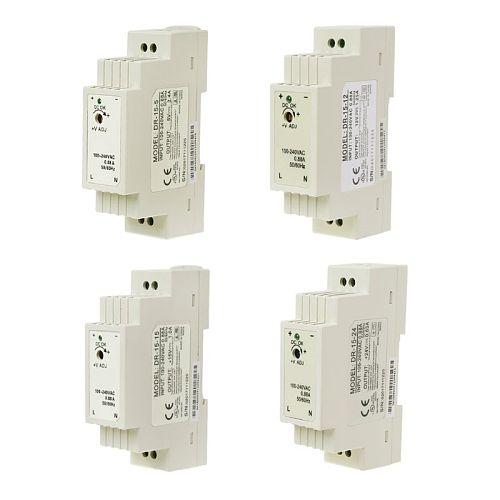 DR-15W Industrial DIN Rail Switching Power Supply 5V 12V 15V 24V M4YD