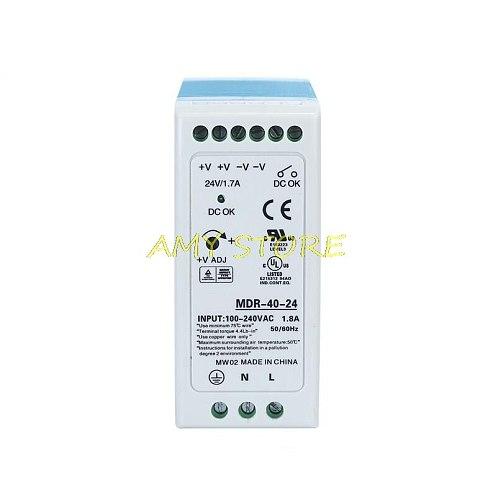 MDR-40 40W Single Output 5V 12V 15V 24VDC Din Rail Switching Power Supply 85-264VAC/120-370VDC Input