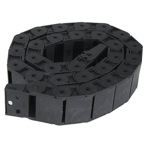 1pc Black Long Nylon Cable Drag Chain Towline 1M 1000mm 40  Mayitr Durable R38 Wire Carrier 18*37mm for CNC Machine Tools