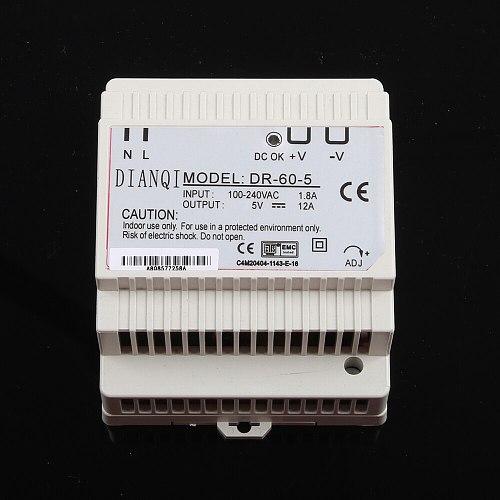 DIANQI DR-60W 12V 24V 15V 48V Din Rail switching power supply ac-dc driver voltage regulator power suply DR-60-12 DR-60-24 60-48