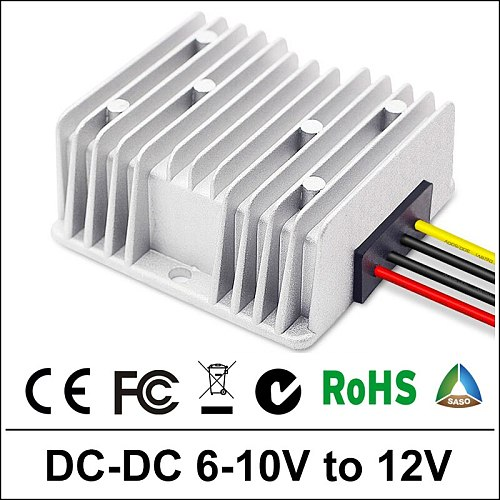 Waterproof 6V 12V Inverter Power Supply Converter DC/DC Step-up 6V/8V/10V to 12V5A Control Car Module 12V Converter  for Car