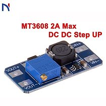 MT3608 2a max dc dc step up DC Voltage Regulator Step Up Boost Converter Power Supply Module Board MAX output 28V 2A for arduino