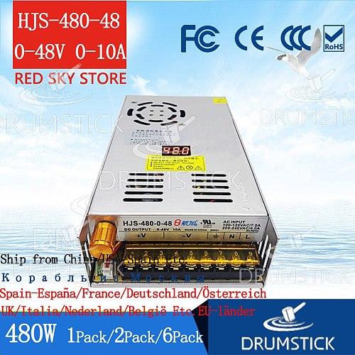 Steady adjustable power supply Digital display 0-48V 0-10A 5V12V24V36V 2A3A5A 25W60W72W 120W240W 360W/480W LED