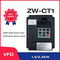 VFD Inverter 1.5KW/2.2KW ZW-CT1 3P 220V Output Converter  Variable Frequency Drive Wzw