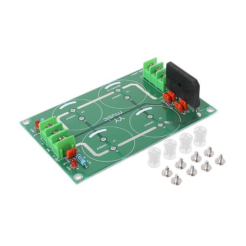 Dual Power Rectifier Filter Power Supply Module Empty Circuit Board for TDA8920 LM3886 TDA7293 Amplifier