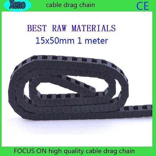 15x50mm Bridge Type Plastic Energy Chain For CNC Route Machine