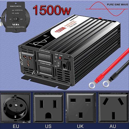 dc ac inverter 1500W pure sine wave digital display