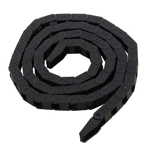 Black Plastic Nylon Cable Carrier Drag Chain Towline Nested Wire Carriers 7*7mm For CNC Machine Tool Electronic Equipment