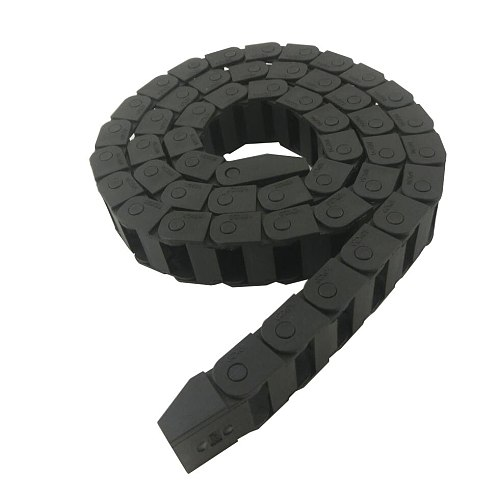Transmission Chains 10x10 10x15 10x20 1.05Meter Drag Chain Reinforced Nylon Cable Drag Chain for CNC Router Machine Tools