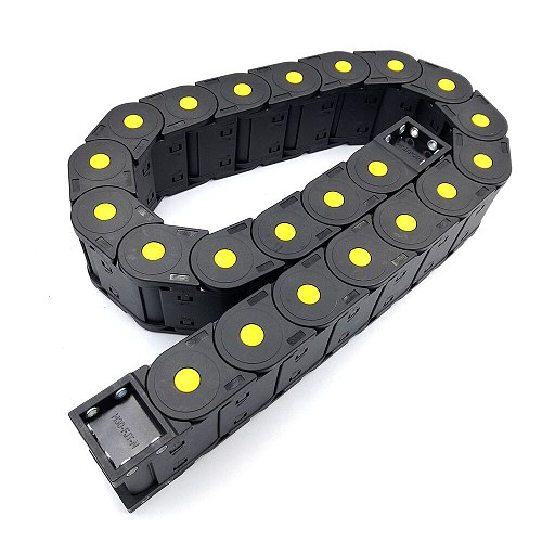 JFLO 30x50mm 40  Plastic Wire Carrier Cable Drag Chain For CNC Router Machine Tools Transmission Towline L1000mm Free Shipping
