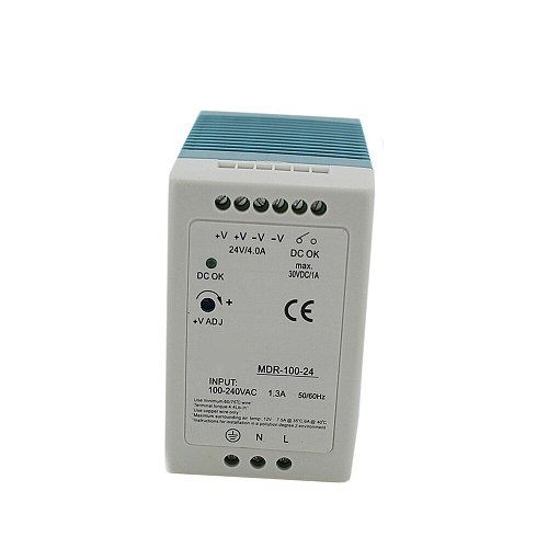 Single Output Industrial DIN Rail switching Power Supply 12/24V ac dc  10W 20W 40W 60W 100W with Ce Approv for led driver