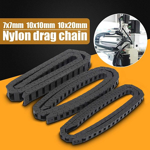New Arrival 2019 7x7 10x10 10x20mm Nylon Towline Drag Chain 1M Wire Carrier Machinary Accessories For  CNC Router Machine Tools