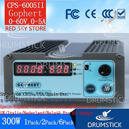 Steady Gophert Mini Digital DC Power Supply CPS-6005II Adjustable 0-60V 0-5A Lockable CPS-6005 corrective maintenance ageing