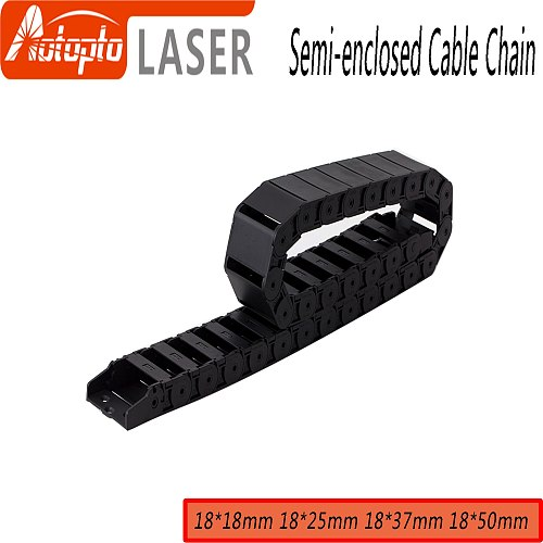 Cable Chain Semi-Enclosed Interior Opening 18x18 18x25 18x37 18x50 Drag Plastic Towline Transmission