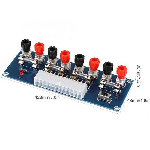 Switching Power Supply Power Supply Module ATX Transfer Board Power Supply Test Module For Desktop PC Adjustable Switching