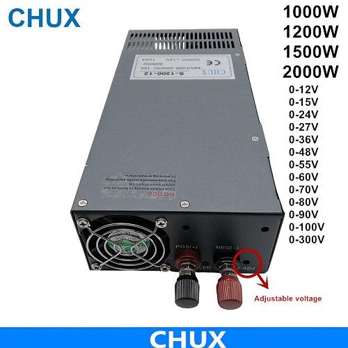 1000W 1200W  1500W 2000W Switching Power Supply  AcDc Power Supply For Cnc Cctv Led Light 12V 24V 36V 48V 55V 110V Power supply