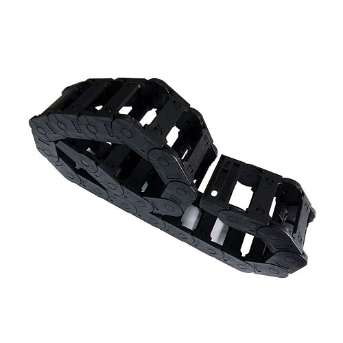 JFLO 1 Meter 25x77mm Transmission Drag Chain Cable Wire Carrier Towline For CNC Machine Bridge Open On Both Sides Free Shipping