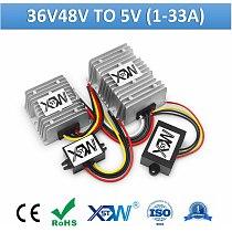 DC DC 36v 48v to 5v Step Down Voltage Converter 20-60v to 5v Buck Voltage Reducer DC Switching Power Supply