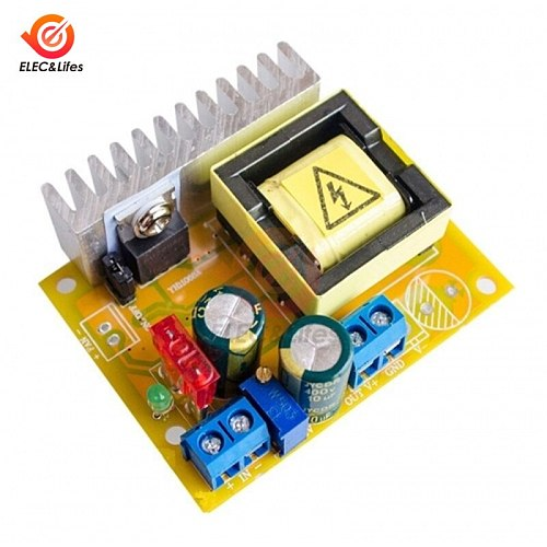 DC-DC 8~32V to 45~390V High Voltage ZVS Boost Converter module step up booster power supply Module with Protection Function