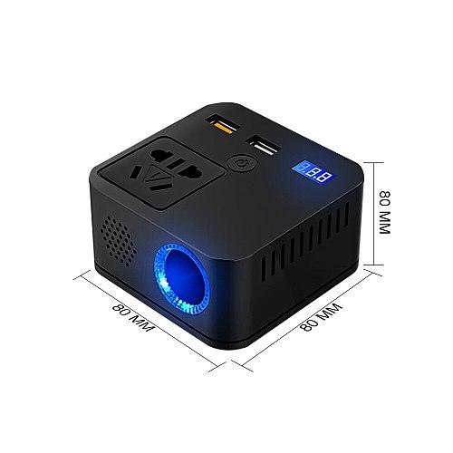 12/12-24V To 220V 120W Car Inverter QC3.0 Fast Charger USB Home Power Converter Intelligent Sine Wave Multi-function Converter