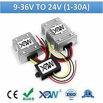Free Shipping 9-36V 12V 24V To 24V DC Voltage Regulator 1A To 30A DC To DC Boost Buck Converter Power Supply