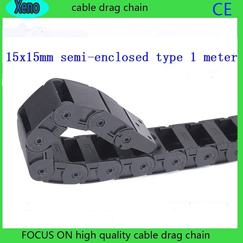 15 x 15 mm Semi-enclosed Type Plastic Energy Chain For Cnc Machine