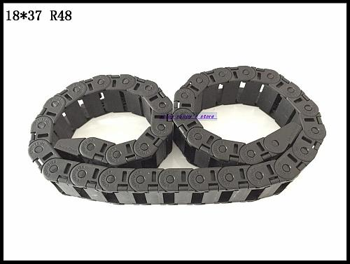 1pcs 18x37mm R48 Cable Drag Chain Wire Carrier with End Connector 18mm x 37mm L1000mm 40  for 3D CNC Router Machine Brand New