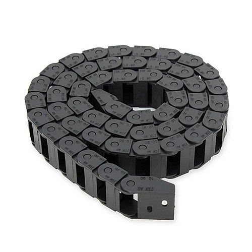 10 x 20mm 10*20mm L1000mm Plastic Nylon Cable Drag Chain Wire Carrier for CNC Router Machine Tools