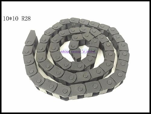 3pcs/lot 10x10mm R28 Cable Drag Chain Wire Carrier with End Connector 10mm x10mm L1000mm 40  for 3D CNC Router Machine Brand New