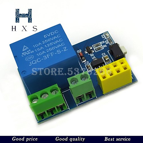 ESP8266 5V WiFi relay module LED Controller Things smart home remote control switch phone APP ESP-01S DHT11