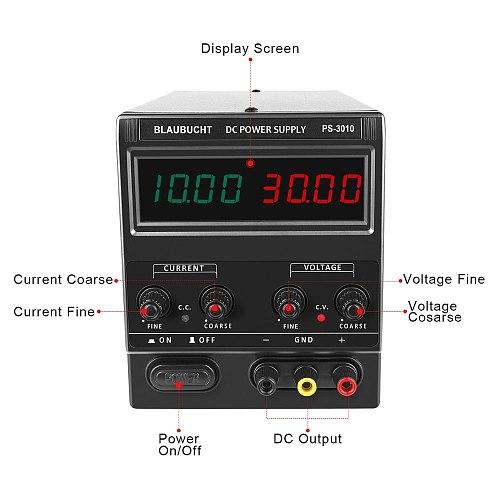 BLAUBUCHT Digital Display 60V 5A Lab Switching Regulated Power Supply laboratory Dc Adjustable Bench Source Voltage Regulator
