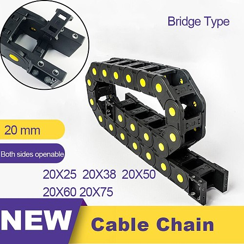 20x25 20x38 20x50 20x60 20x75 Nylon Mochine Towline 20 Cable Chain Drag Chain Slient Bridge 20*25 20*38 20*50 20*60 20*75
