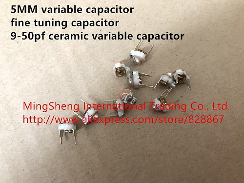 Original new 100% genuine 5MM variable capacitor fine tuning capacitor 9-60pf 50PF - 60PF ceramic variable capacitor  (Inductor)