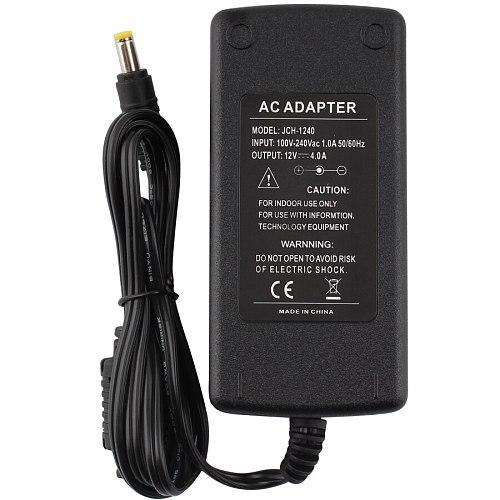 Power Adapter 12V 4A  Universal 110V-240V AC 220V to DC 12 V led driver Power Adapter 12 V Volt Charger Adaptor For LED Strip
