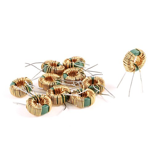 UXCELL New Hot Sale 10Pcs 2MH 30Mohm 2A Toroid Core Common Mode Inductor Choke Coil Switching Power Output Smoothing Circuits
