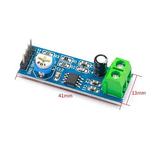200 Times Gain 5V-12V LM386 Audio Amplifier Module 10K Adjustable Resistance 200 Multiplier Speaker Wire Holder