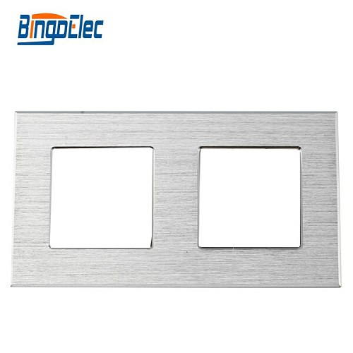 Three color to choose double aluminum socket frame,to pair with socket parts ,
